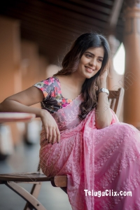 Amritha Aiyer in Saree HD