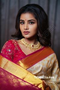 Anupama Parameswaran in Saree HD