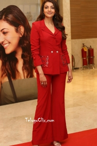 Kajal Aggarwal HQ Photos in Red Dress