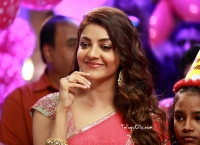 Kajal Aggarwal HD in Pink Saree Comali
