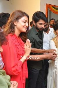 Kajal Aggarwal at Manu Charitra Movie Launch