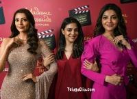 Kajal Aggarwal and Nisha Aggarwal HD Madame Tussauds Singapore