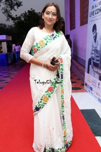 Singer Kalpana in Saree