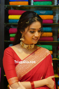 Keerthy Suresh in Saree at CMR Shopping Mall Launch