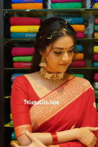 Keerthy Suresh in Saree CMR Shopping Mall Launch
