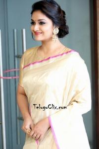 Keerthy Suresh in Saree HD Pics