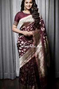 Keerthy Suresh Saree HD Photoshoot
