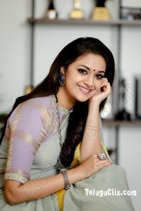 Keerthy Suresh in Saree HD