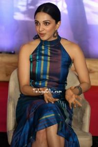 Kiara Advani in Blue Dress at VVR interview