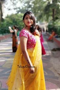 Kruthika Jayakumar Hot in Half Saree