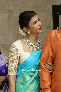 Lakshmi Manchu in Saree HQ
