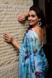 Manjusha Blue Saree Photos