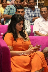 Megha Akash in Orange Dress
