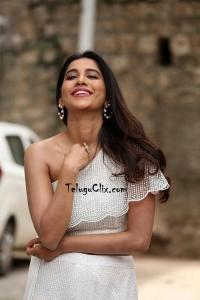 Nabha Natesh in white dress