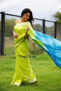 Nandita Swetha in Green Saree