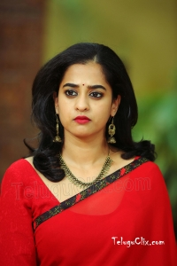 Nanditha Raj in Red Saree HD From Viswamitra