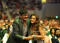 Nidhhi Agerwal and Chiranjeevi HD at Siima Awards 2019