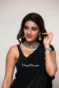 Nidhhi Agerwal in Saree HQ Pics