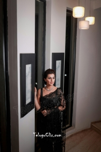 Nikki Galrani in Black Saree HD
