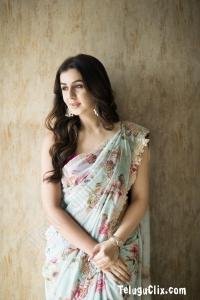 Nikki Galrani in Saree HQ