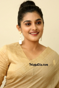 Nivetha Thomas in Saree HD Photos