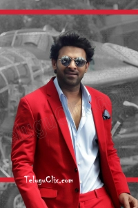 Prabhas in Red Coat HD Saaho