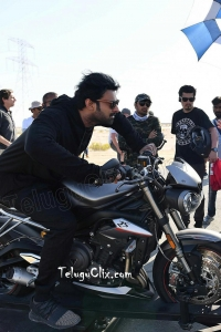 Prabhas Saaho working