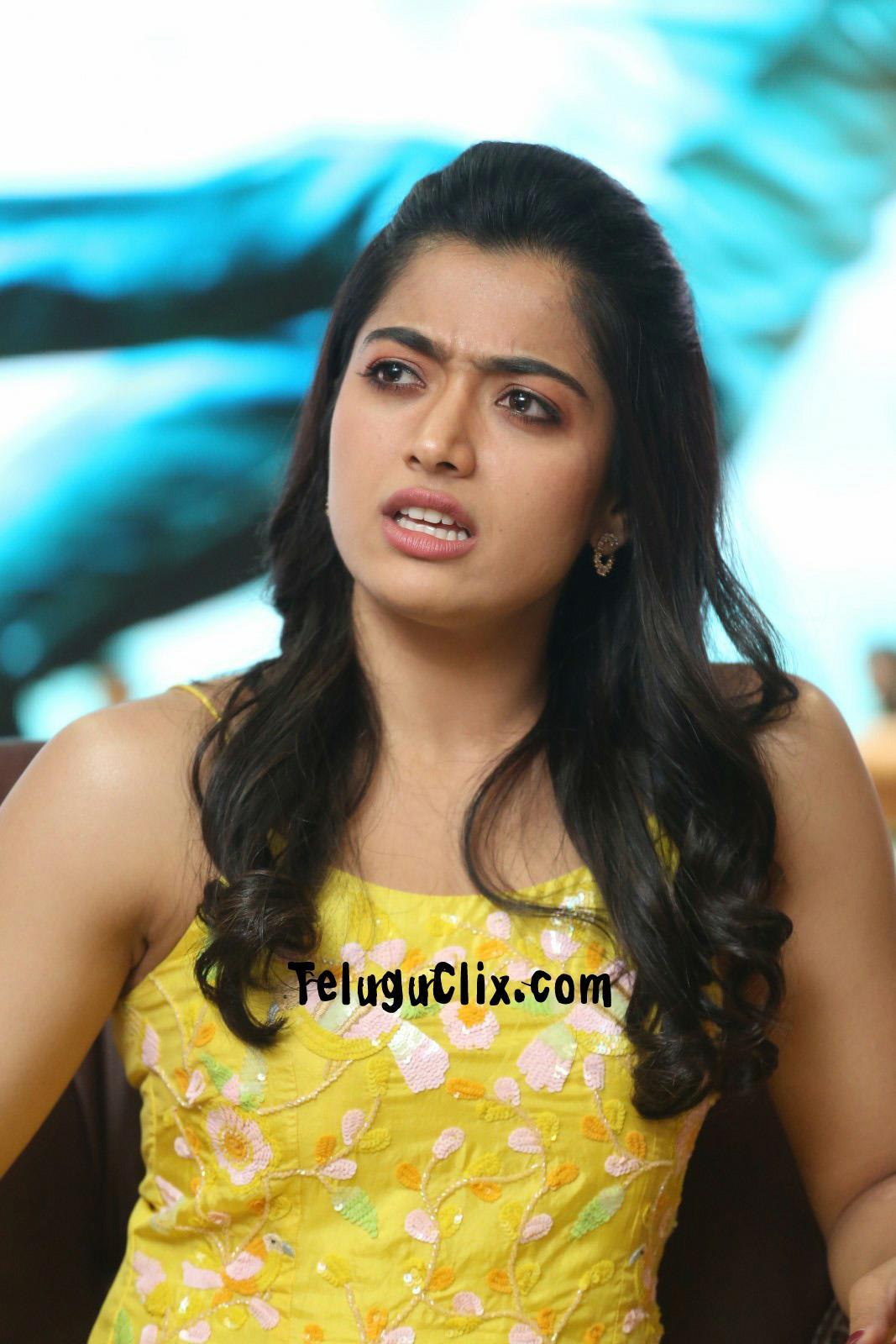 Rashmika Mandanna Hd Stills In Yellow Dress Latest New Hq Photos Pics