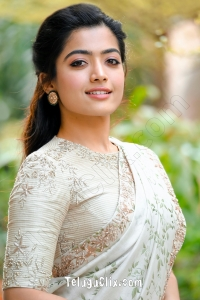 Rashmika Mandanna in Saree HD Pictures