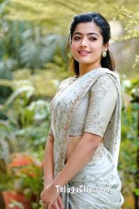 Rashmika Mandanna in Saree HD Pictures