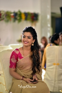 Rashmika Mandanna in Saree HD Geetha Chalo