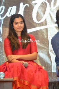 Rashmika Mandanna at Dear Comrade Kannada Press Meet