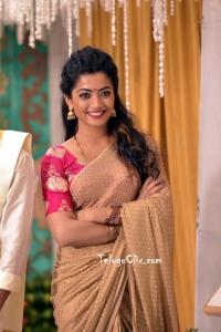 Rashmika Mandanna Saree in Geetha Chalo HD