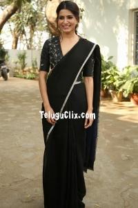 Samantha in Black Saree HD Photos