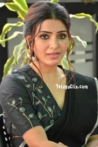 Samantha in Black Saree Photos
