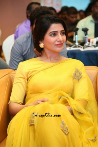 Samantha Yellow Saree