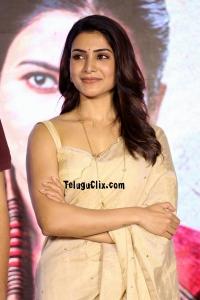 Samantha HD in Saree Jaanu Trailer Launch