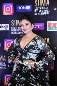 Actress Sree Mukhi at Siima Awards 2021