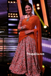 Sree Mukhi in Half Saree Start Music Reloaded