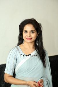 Singer Sunitha Saree Photos