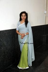Telugu Singer Sunitha in Saree Photos