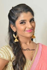 Anchor Syamala Pink Saree Photos