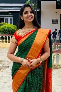 Shyamala in Saree