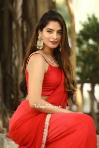 Tanya Hope in Red Saree