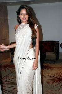 Tanya Hope in White Saree